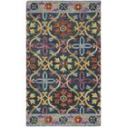 Talmo Hand Hooked Wool Blue/Yellow Area Rug Rug Size: Rectangle 5' x 8'