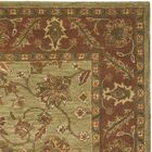 Jaipur Hand-Tufted Wool Green/Rust Area Rug Rug Size: Rectangle 3' x 5'