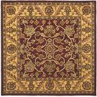 Golden Jaipur Burgundy/Gold Area Rug Rug Size: Square 6'
