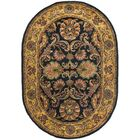 Golden Jaipur Antiquity Black/Gold Area Rug Rug Size: Oval 7'6