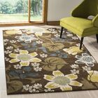 Newport Brown/Mustard Area Rug Rug Size: Rectangle 8' x 10'