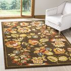 Newport Brown/Green Floral Area Rug Rug Size: Rectangle 8' x 10'