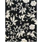 Sanders Black/Ivory Floral Area Rug Rug Size: Rectangle 7'6