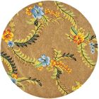 Eldridge Brown Floral Area Rug Rug Size: Round 6'