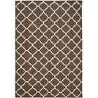 Dhurries Hand-Woven Wool Brown/Ivory Area Rug Rug Size: Rectangle 10' x 14'
