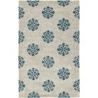 Marcello Hand-Woven Wool Ivory/Green Area Rug Rug Size: Rectangle 9'6