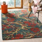 Metro Floral Rug Rug Size: Rectangle 6' x 9'