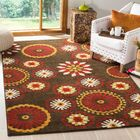 Newport Brown/Red Area Rug Rug Size: Rectangle 5'1