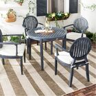 Chilhowee Chino 5 Piece Dining Set with Cushions Color: Dark Slate Gray