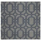 Dhurries Hand-Woven Wool Gray/Blue Area Rug Rug Size: Square 6'