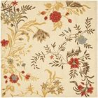 Beyonce Flower Beige / Multi Contemporary Rug Rug Size: Square 6'