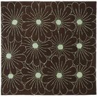 Lockwood Light Brown / Teal Contemporary Rug Rug Size: Square 6'