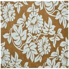 Eldridge Light Brown / Blue Contemporary Rug Rug Size: Square 6'
