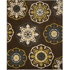 Newport Brown/Green Area Rug Rug Size: Rectangle 8' x 10'