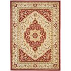Austin Cream/Red Area Rug Rug Size: Rectangle 8' x 11'
