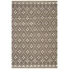 Natural Kilim Hand-Woven/Flat-Woven Brown/Ivory Area Rug Rug Size: Rectangle 8' x 10'