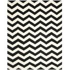 One-of-Kind Wilkin Chevron Hand-Tufted Wool Ivory/Black Area Rug Rug Size: Rectangle 10' x 14'