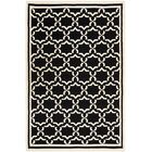 Dhurries Black/Ivory Area Rug Rug Size: Rectangle 9' x 12'