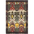 Ikat Hand-Woven Wool Creme/Brown Rug Rug Size: Rectangle 9' x 12'
