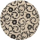 Alvan Hand-Tufted Beige / Black Area Rug Rug Size: Rectangle 5' x 8'