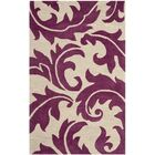 Maxen Purple/Beige Area Rug Rug Size: Rectangle 3'6