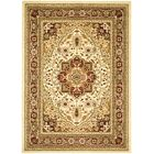 Theresa Ivory/Red Area Rug Rug Size: Rectangle 9' x 12'