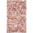 Messiah Ivory/Pink Shag Area Rug Rug Size: Rectangle 6' x 9'