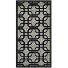 York Gray/ Black Area Rug Rug Size: Square 6'7