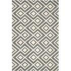 Wilkin Hand-Tufted Wool Dark Gray/Ivory Area Rug Rug Size: Rectangle 5' x 8'