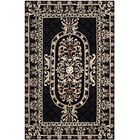 Naples Black Area Rug Rug Size: Rectangle 4' x 6'