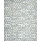Dhurries Dhurrie Wool Blue/Ivory Area Rug Rug Size: Rectangle 9' x 12'