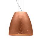 Bella 1-Light Cone Pendant Finish: Satin Nickel, Shade Color: Copper Foil, Size: 17.75