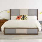 Swell Upholstered Panel Bed Size: California King