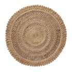 Lillian Hand Braided Natural Area Rug Rug Size: Round 60