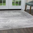 Brooksville Charcoal/Gray Area Rug Rug Size: Rectangle 5'3