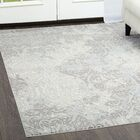 Brooksville Ivory/Gray Area Rug Rug Size: Rectangle 7'9