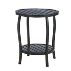 Cottage Wrought Aluminum Side Table Color: Ancient Earth