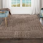Sculptured Brown Area Rug Rug Size: 5' x 7'7