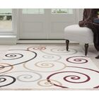Spirals Beige/Red Area Rug Rug Size: Rectangle 4' x 6'