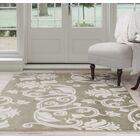 Floral Scroll Green/Beige Area Rug Rug Size: 8' x 10'