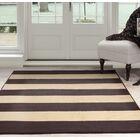 Autumn Stripe Beige/Brown Area Rug Rug Size: 8' x 10'