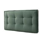 Leo Upholstered Panel Headboard Size: Twin, Color: Faded Green