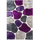 Hand-Tufted Lilac Purple/Gray Area Rug Rug Size: 5' x 7'