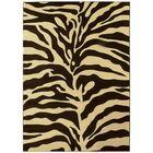 Esteban Hand-Carved Brown/Beige Area Rug Rug Size: 5' x 7'