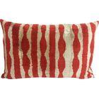 Velvet Lumbar Pillow Color: Rust Zebra