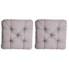 Indoor/Outdoor/Indoor Furniture Alma Seat Cushion (Set of 2) Fabric: Gray
