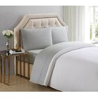 4 Piece 510 Thread Count Cotton Sheet Set Color: Ghost Gray, Size: King