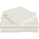 Classic Cotton/Linen Sheet Set Color: Almond Milk, Size: King