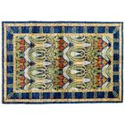 One-of-a-Kind Arts and Crafts Hand-Knotted Blue/Green Area Rug