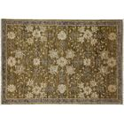 One-of-a-Kind Oushak Hand-Knotted Green Area Rug Rug Size: Rectangle 4'3